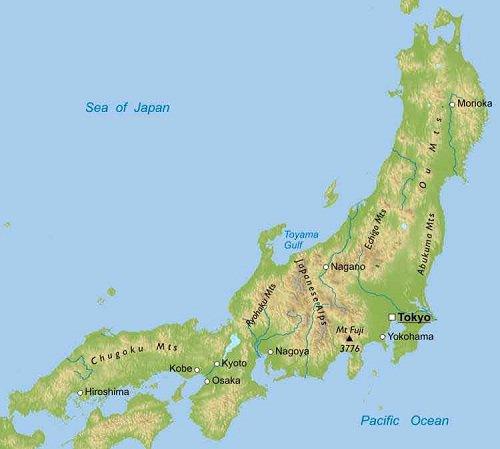 Где находится японские острова